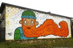 A street art piece created during street art festival Stencibility in Tartu, Estonia.