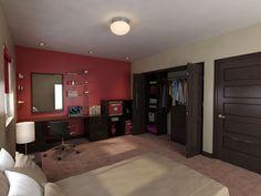 Añade un rojo tenue en alguna pared de tu habitación para crear un ambiente más interesante.