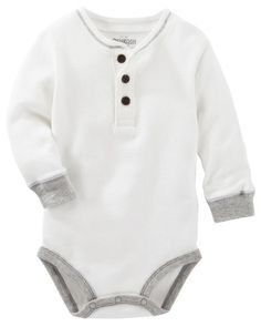 Baby Boy Thermal Henley Bodysuit from OshKosh B'gosh. Shop clothing & accessories from a trusted name in kids, toddlers, and baby clothes.