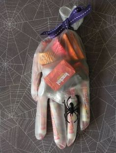 Neat way to pass out trick or treat candy.