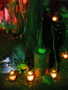 Halloween 2014 voodoo swamp shack lighting test (featured on pumpkinrots blog)