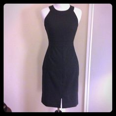 """NWT Banana Republic Jane Black Sheath 81% Polyester, 16% Rayon, 3% Spandex. Dry clean. Boatneck. Sleeveless. Banded waist. Center front vent. Invisible back zip with hook-and-eye closure. Fully lined. Body length: 37 1/4"""" Banana Republic Dresses"""