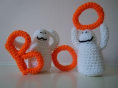 Hand Crocheted Halloween Ghosts by BibiBambina on Etsy, $20.00