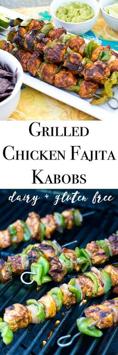 Making it Milk-free: Grilled Chicken Fajita Kabobs {dairy + gluten ...