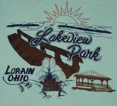 Vintage 1980s Lakeview Park Lorain Ohio T-Shirt. Very good pre-owned condition.