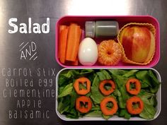 """Nom Nom"" simple salad bento in Monbento - paleo"