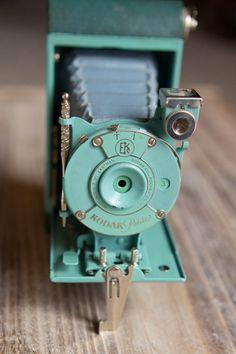 Vintage Green Kodak Petite Folding Camera