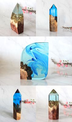 Unique resin and wood home decor. Perfect desk accessory or statement housewarming gift for new homeowners.  Resin and wood home decor, Unique desk accessory, Statement housewarming gifts, Handmade girlfriend gift, Nature inspired wood centerpiece  Handmade decor by WoodAllGood #WoodAllGood