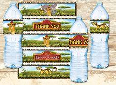 Lion Guard Water Bottle Wapper Label - Lion Guard Party -  Lion Guard Party Printables-Lion Guard Birthday Invitation-Lion Guard Instant by RainbowPrintables on Etsy https://www.etsy.com/listing/288161919/lion-guard-water-bottle-wapper-label
