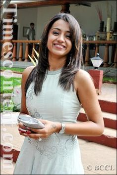 South Indian actress Trisha at an event, in Chennai.