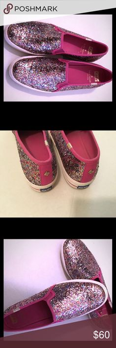 Cute Kate Spade glitter sparkle keds women size 8 Great condition Kate Spade keds - no missing glitter 😊 Definitely Happy shoes! A lot of life left. Pet smoke free home Shoes Sneakers
