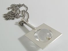 Designed by Helga & Bent Exner for Hans Hansen Denmark c.1960 Sterling Silver with Perspex Sphere