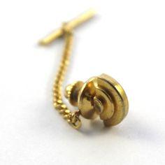 Gold Art Deco Tie Pin Tie Tack Vintage Tiepin by CuffandCollar Tie Pin, Gold Art, Tack, Artisan, Art Deco, Stud Earrings, Unique Jewelry, Handmade Gifts, Vintage
