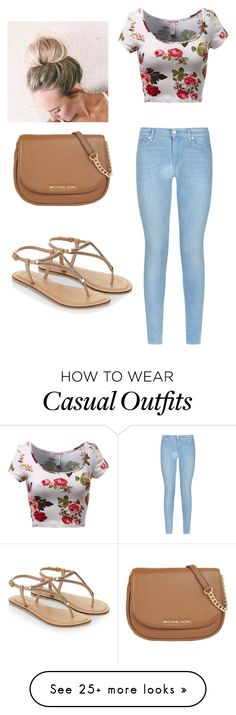 """Casual"" by justawildflower on Polyvore featuring moda, 7 For All Mankind, Accessorize, MICHAEL Michael Kors, women's clothing, women's fashion, women, female, woman e misses"