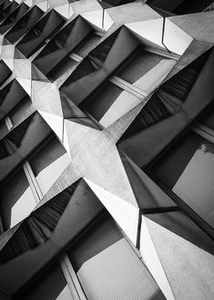Geometric patterns in architecture with graphic contrast & repetition