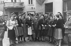 Heinrich Himmler and Karl Wolff with Austrian girls