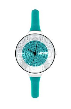 Watch Hoops Womens Silicone Coloured New 2016 Lady Small Diamond Collection Turquoise Colour * See this great product.