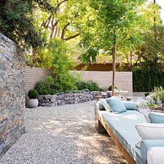 Daybed in a serene, low-water setting