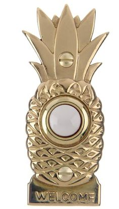 DH1670L Pineapple Wired Doorbell Button in Brass or Nickel