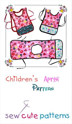 Childs Apron Pattern / Apron Template / Apron Designs / Apron Patterns / Apron Pattern with Pockets / Apron Sewing Pattern / Apron Tutorial Childrens Apron Pattern, Child Apron Pattern, Apron Pattern Free, Childrens Aprons, Sewing Patterns Free, Pattern Sewing, Aprons For Kids, Apron Sewing Patterns, Dress Patterns