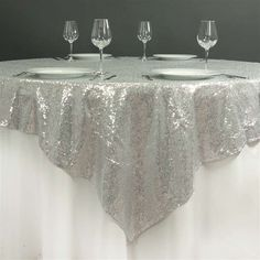 Sequin Napkin Holders 4 Pack Silver Sequins And