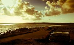 Richard Talbot added a new photo. Volkswagen Bus, Time Out, Campervan, Talbots, Fresh Water, Best Friends, Clouds, Sunset, Author