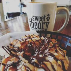 A lot is going in USA right now, 11/9. I address that later. But personally had some great news then morning. I will enjoy my lavender latte. And think. American are all in their feels. #sweettheory #donuts #coffee #latte #lavender #chocolate #coconut #bemaifoodie
