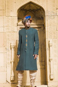 Naushemian Groom Wear Winter Collection 2013 For Men - Pakistan - Wedding interests Wedding Outfits For Groom, Summer Wedding Outfits, Summer Outfits Men, Wedding Men, Wedding Suits, Wedding Summer, Trendy Wedding, Formal Wedding, Wedding Stuff