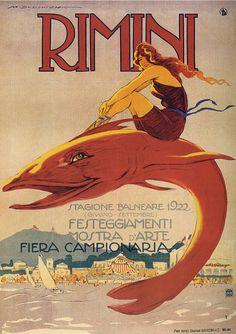 Vintage Italian art deco ads