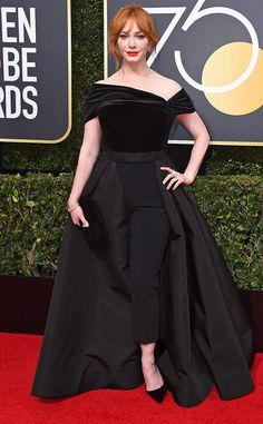 4b6317711a1e9 Christina Hendricks from 2018 Golden Globes Red Carpet Fashion