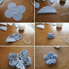 diy-napad-navod-latkovy-pleteny-veniec-04 Diy And Crafts, Crafts For Kids, Fabric Toys, Embellishments, Christmas Decorations, Homemade, Sewing, Flowers, Projects