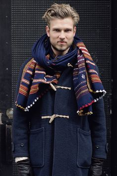 The scarf is a little stark but the jacket is fresh