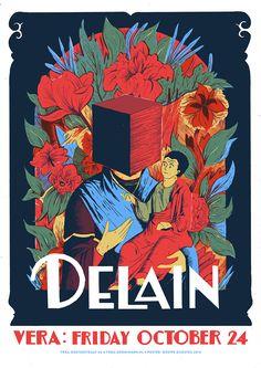 Poster Delain, live at Vera Groningen 2014