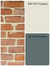 Image result for house exterior colors that go with orange brick