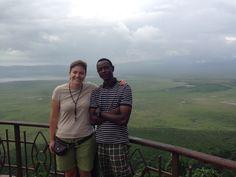 Marta con Gregory (Manager Udare Safari) en Ngorongoro. Enero 2016