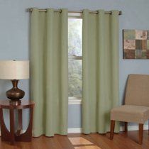Eclipse Curtains Microfiber Grommet Blackout Energy-Efficient Curtain Panel Available In Multiple Colors And Sizes Velvet Curtains, Grommet Curtains, Hanging Curtains, Window Curtains, Blackout Panels, Blackout Curtains, Blinds For Windows, Window Panels, Salons