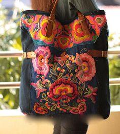Bohemian Style #bag #floral #bohostyle