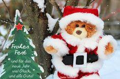 Frohes Fest und für das neue Jahr viel Glück und alles Gute! Animierte Weihnachtskarte mit Djabbi Teddybär