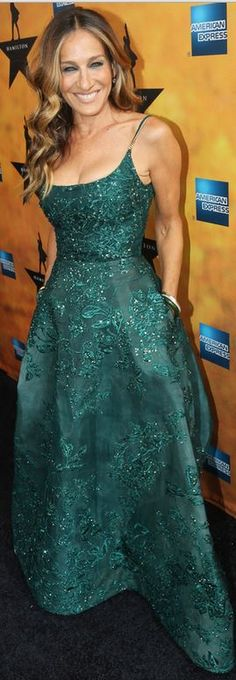 Sarah Jessica Parker in Dress – Elie Saab  shoes – Sarah Jessica Parker Collection