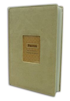 "Golden State Art Photo Album, Holds 300 4""x6"" pictures, 3 per page, Suede Cover, Beige ** More details @…"