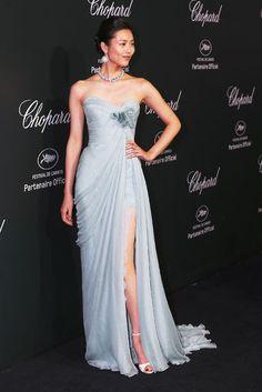 Liu Wen in Elie Saab at Cannes