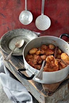"Lamb ""kapamas"" with potatoes"