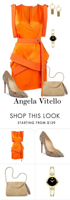 """Untitled #1032"" by angela-vitello on Polyvore featuring Thierry Mugler, Christian Louboutin, Mar y Sol, Movado and Stephanie Kantis"