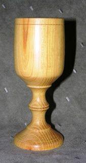 Osage Orange hand turned goblet. Inventory #799. The WoodArt Studio: Studio Gallery