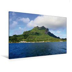 Hafen von Vaitape (Bora Bora) (Premium Foto-Leinwand 45x30 cm, 75x50 cm, 90x60 cm, 90x60 cm)