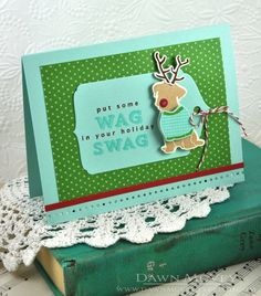 Wag In Your Swag Card by Dawn McVey for Papertrey Ink (October 2013)