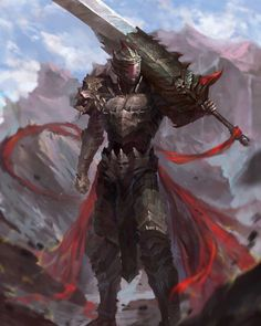Warrior Concept Art Knights Armour 40 New Ideas Fantasy Male, Fantasy Armor, Fantasy Weapons, Dark Fantasy Art, Medieval Fantasy, Fantasy Samurai, Dark Art, Dungeons And Dragons Characters, Fantasy Characters