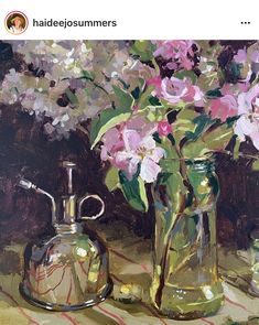 Flower Art, Lilac, Flora, Bouquets, Artist, Nature, Cherry, Painting, Posts