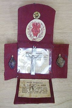 Antique Saint Frere Andre Brother St Joseph Oratory Pocket Shrine Por…