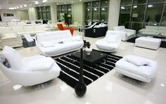 Luxury Pearlescent Genuine leather Sofa filled with feather down sofa,